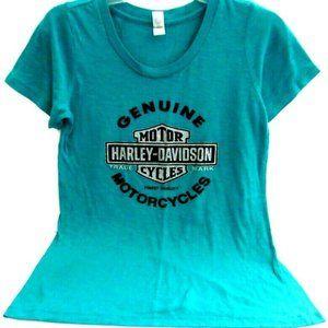 T-shirt Harley Davidson Blue Burnout Summer
